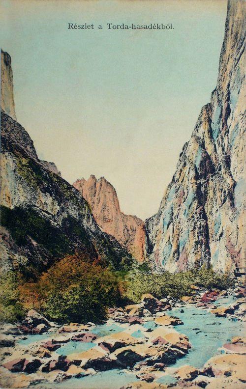 Torda:részlet a Tordai hasadékból.1912