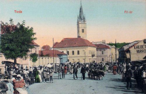 Torda,főtéri piac 1908