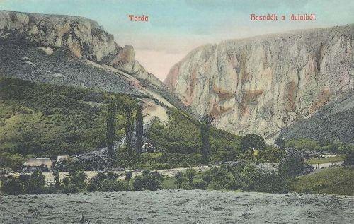 Torda:tordai hasadék a távlatból.1908