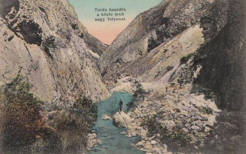Tordai hasadék:látkép a patakkal.1912