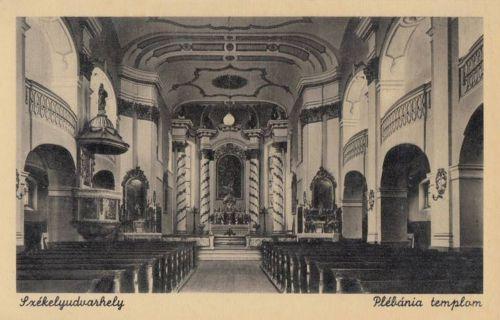 Székelyudvarhely:Plébánia templom belseje.1944