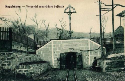 Nagybánya:veresvizi aranybánya bejárata.1916