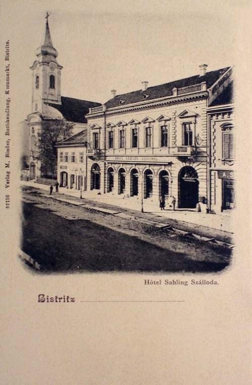 Beszterce:Hotel sahling szálloda.1904
