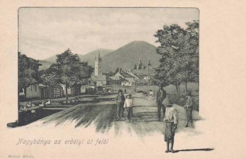 Nagybánya:látkép az erdélyi út  felöl.1902