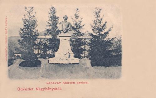 Nagybánya:Lendvay Márton szobra.1903