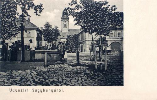 Nagybánya:főtér.1916