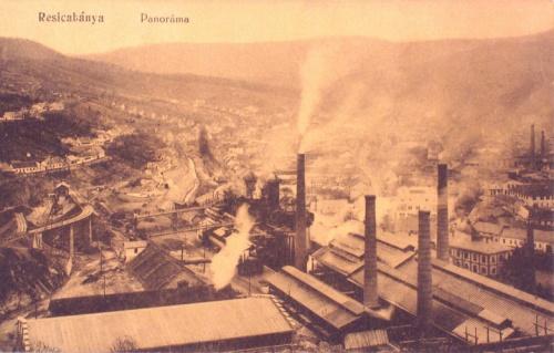 Resica:Panoráma a gyárakkal.1912
