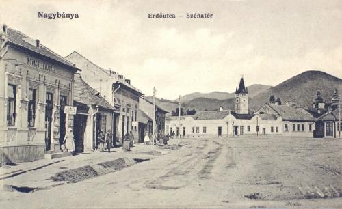 Nagybánya:Erdő utca,Széna tér.1912