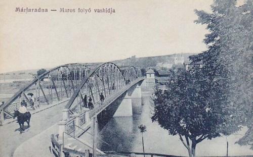 Máriaradna:Maros folyó a vashiddal.1916