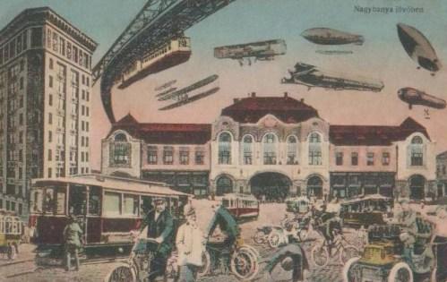 Nagybánya:100 év múlva a jövőben.1912