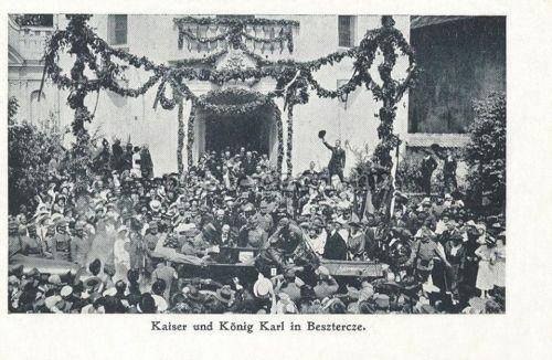 Beszterce:IV Károly magyar király látogatása.1917