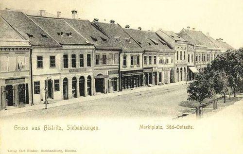 Beszterce:piac tér Dél-Keleti oldala.1903