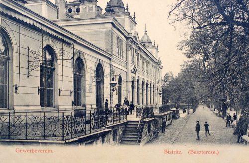 Beszterce:sétány vendéglővel.1907