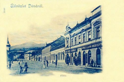 Déva:főtér.1901