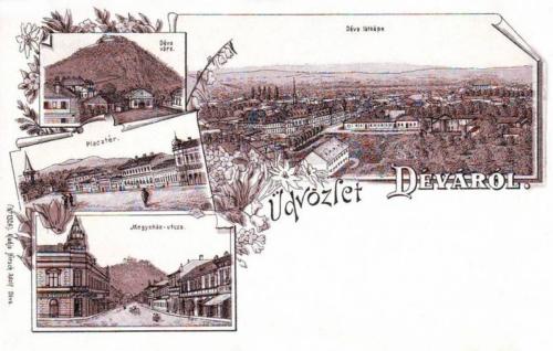 Déva-Schlossberg-Deva:kőnyomat.1899