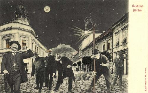 Déva:éjjel részegen hazafelé,1906