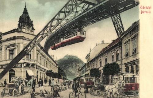 Déva:a jövőben,100 év múlva.1906
