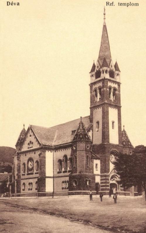 Déva:új református templom,1915.