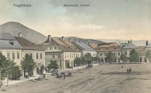 Nagybánya:Rákóczi tér.1913