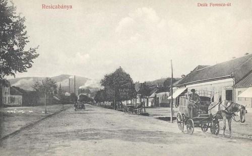 Resicabánya:Deák Ferencz út.1910