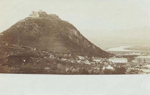 Déva:látkép a várral.1900