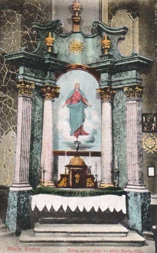Máriaradna:Mária szive oltár.1916