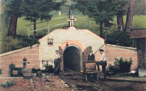 Nagybánya:bánya bejárata.1918