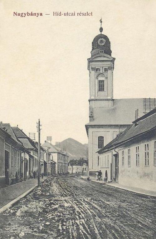 Nagybánya:Hid utca a templommal.1912