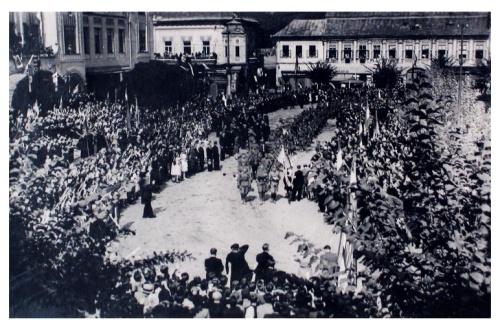 Nagybánya:honvédel bevonulása.1940