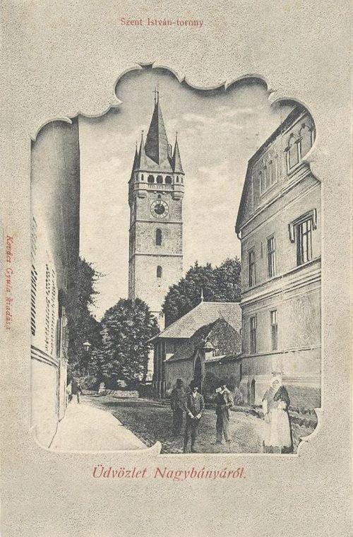 Nagybánya:Szent István torony.1902