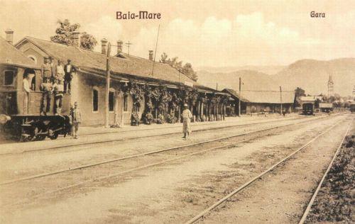 Nagybánya:vasútállomás.1927