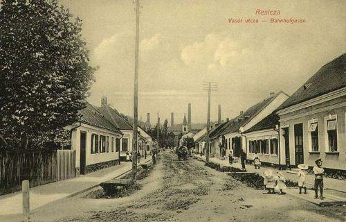 Resicza:Vasút utca.1912