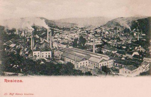 Resicza:gyárak látképe.1903