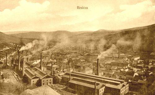 Resica:látkép a gyárakkal.1910
