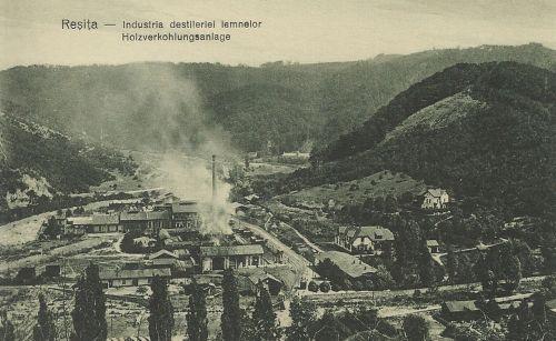 Resica:Fa elszenesitő üzem.1928