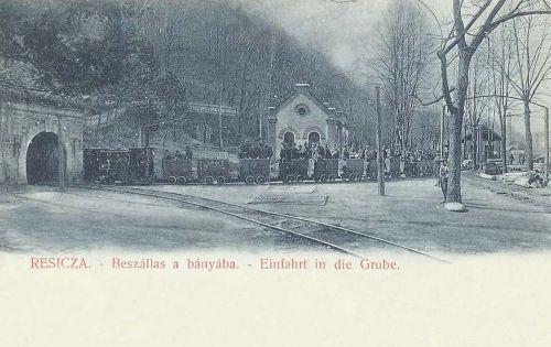 Resicza:beszállás a bányába.1904