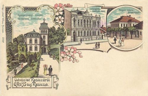 Resicza-Reschitz-Resita:kőnyomat.1899