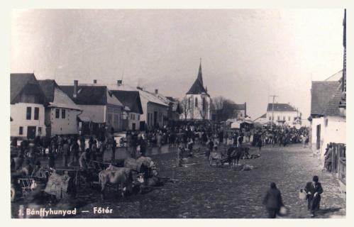 Bánffyhunyad:főtér.1941