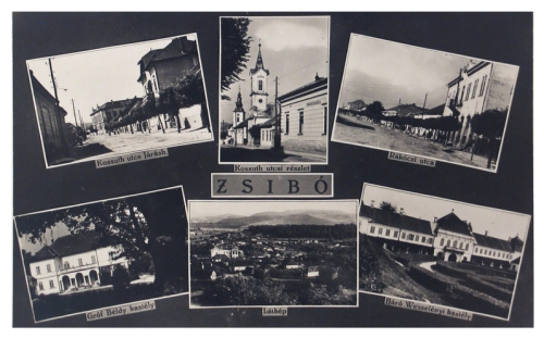 Zsibó:Kossuth,-Rákóczi utca,gróf Béldy kastély.1943