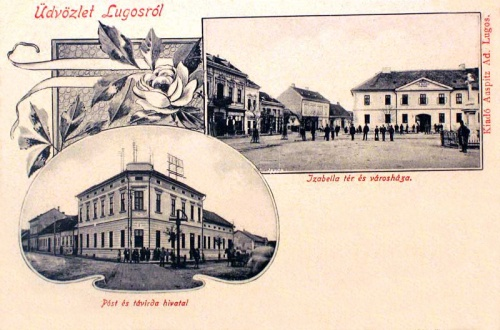 Lugos:Posta,Távirda és városháza.1902