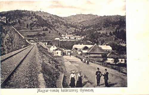 Gyimes:román határörség.1913