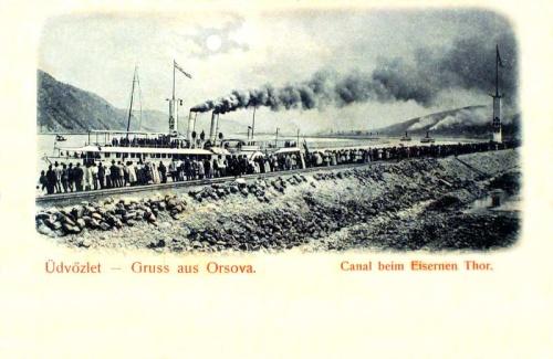 Orsova:Vaskapu szoros átadási ünnepsége.1896