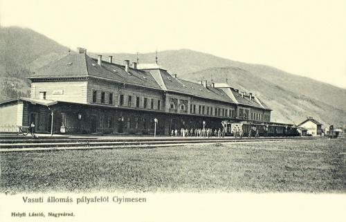 Gyimes:vasútállomás.1904