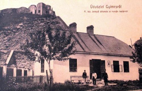 Gyimes:magyar határ átkelő a román oldalról.1914