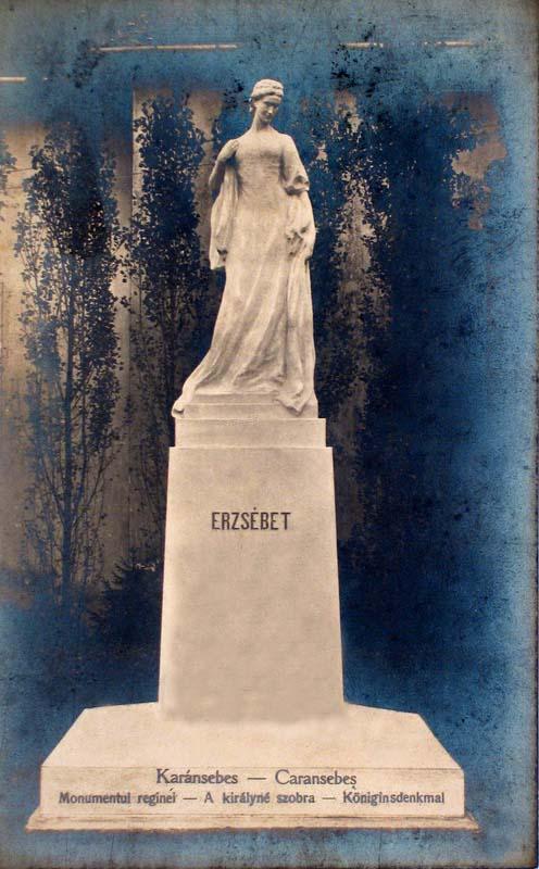 Karánsebes:Erzsébet királyné szobra.1918