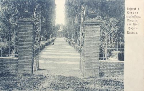 Orsova:magyar királyi korona megtaláló helye.1904