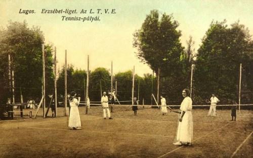 Lugos:Erzsébet liget,tenisz pálya.1912