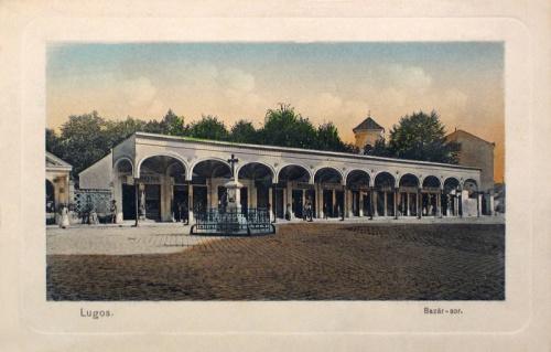 Lugos:Bazár sor.1911