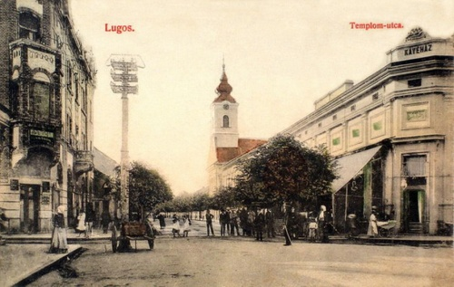 Lugos:templom utca.1908
