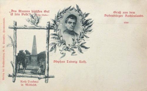 Medgyes,Stephan Ludwig Roth emlékmű 1900